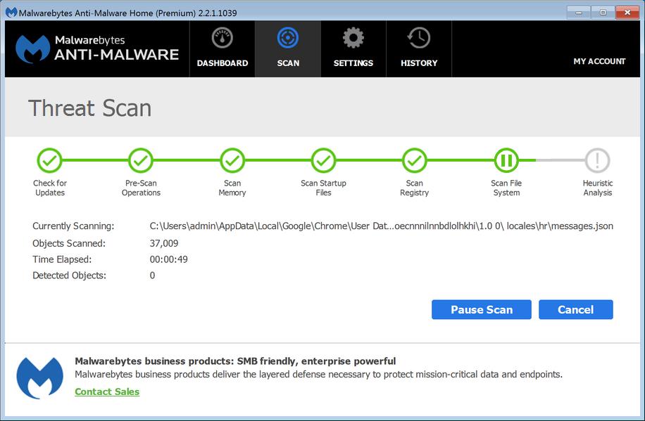 scannen naar malware